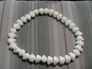 Norman de Winter's Shell Lei Necklace gift, DB Cooper
