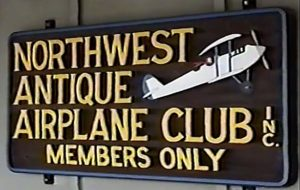 D.B. Cooper - Escape Story - Airport, Evergreen Field, WA, Club Sign--8-97 Memorial Fly-InB