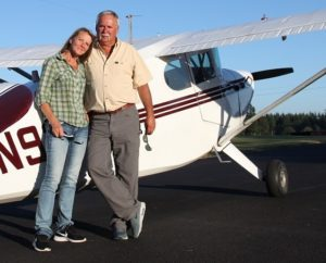 DB Cooper Escape - Russ and Kristy Cooper at Plane