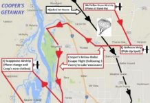DB Cooper - Map--Clark County, GoogleE