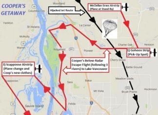 DB Cooper - Map--Clark County, GoogleE