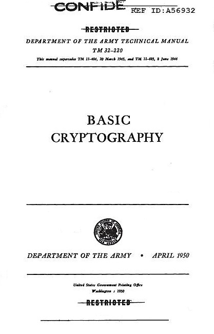 DBC--Army Cryptography Manual, DBC